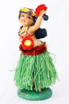 Wackel Hula Mädchen Figur (16cm) - waist flower