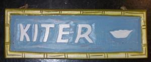 Kiter - Schilder aus Holz