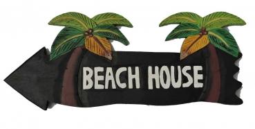 HANG LOOSE - Holzschild, 39cm x 14cm, - BEACH HOUSE -