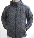 HANG LOOSE-Woll-Strickfleece Jacke, Winddicht, Zip-Kapuze