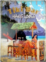 "Metallschild - Stahlblechschild - Hang Loose - ""Tiki Bar"" - 40,5cm x 30cm"