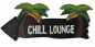 Preview: HANG LOOSE - Holzschild, 39cm x 14cm, CHILL LOUNGE -