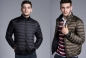 Preview: Wendejacke - Superleichte Daunen - Herren - schwarz/coffee