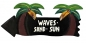 Preview: HANG LOOSE - Holzschild, 39cm x 14cm, - WAVES SAND FUN