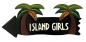 Preview: HANG LOOSE - Holzschild, 50cm x 14cm, - ISLAND GIRLS -
