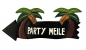 Preview: HANG LOOSE - Holzschild, 39cm x 14cm, - PARTY MEILE -