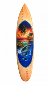 HANG LOOSE - Oval Airbrush Holz-Bretter, 1 Meter x 23cm