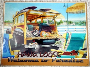 "Metallschild - Hang Loose - ""Welcome to Paradise"" 40,5cm x 30cm"