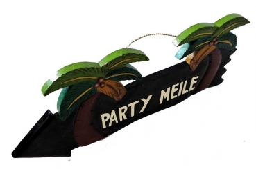 HANG LOOSE - Holzschild, 39cm x 14cm, - PARTY MEILE -