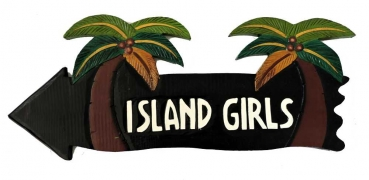 HANG LOOSE - Holzschild, 50cm x 14cm, - ISLAND GIRLS -