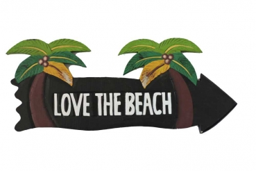 HANG LOOSE - Holzschild, 39cm x 14cm, - LOVE THE BEACH -