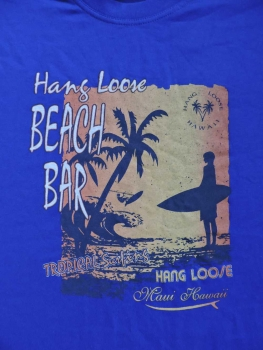 T-Shirt - HANG LOOSE - 'beach' - Motiv vorne