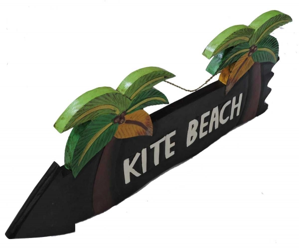 HANG LOOSE - Holzschild, 39cm x 14cm, KITE BEACH