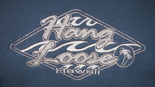 HANG LOOSE - Troyer, 100% Baumwolle, mega-schwer, Strickerei welle